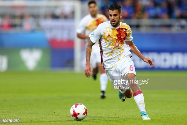 Dani Ceballos during the UEFA European Under21 match between Portugal and Spain on June 20 2017 in Gdynia Poland