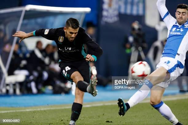 STADIUM LEGANéS MADRID SPAIN Dani Ceballos in action during the match Jan 2018 Leganés and Real Madrid CF at Butarque Stadium Copa del Rey Quarter...