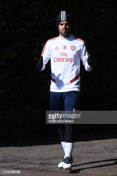 Dani Ceballos of Arsenal before a training session at London Colney on March 06 2020 in St Albans England