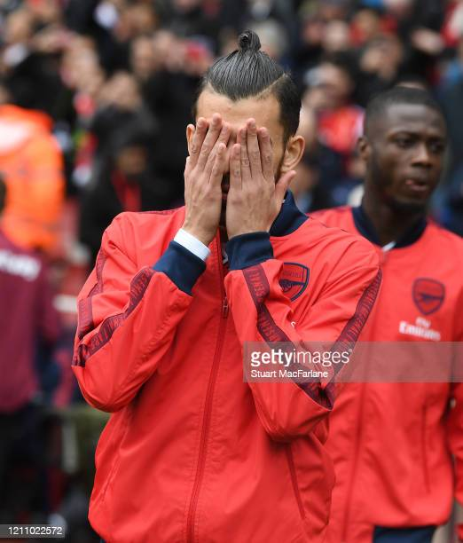 Dani Ceballos of Arsenal before the Premier League match between Arsenal FC and West Ham United at Emirates Stadium on March 07 2020 in London United...