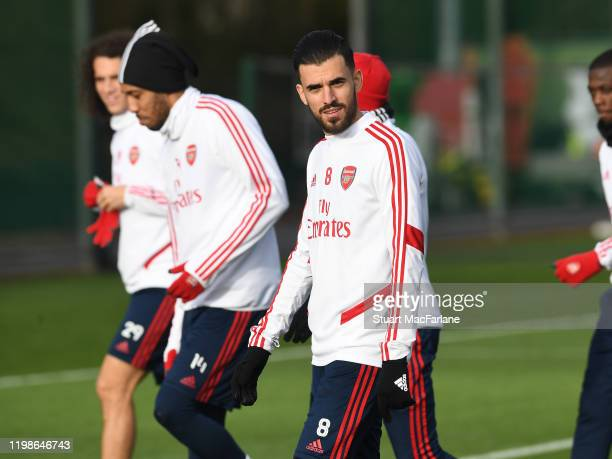 Dani Ceballos of Arsenal during a training session at London Colney on January 10 2020 in St Albans England