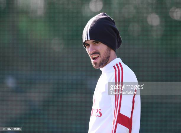 Dani Ceballos of Arsenal during a training session at London Colney on March 06 2020 in St Albans England