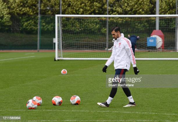 Dani Ceballos of Arsenal during a training session at London Colney on March 10 2020 in St Albans England