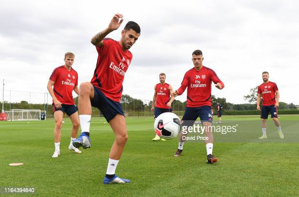 Dani Ceballos of Arsenal during the Arsenal Training Session at London Colney on July 26 2019 in St Albans England