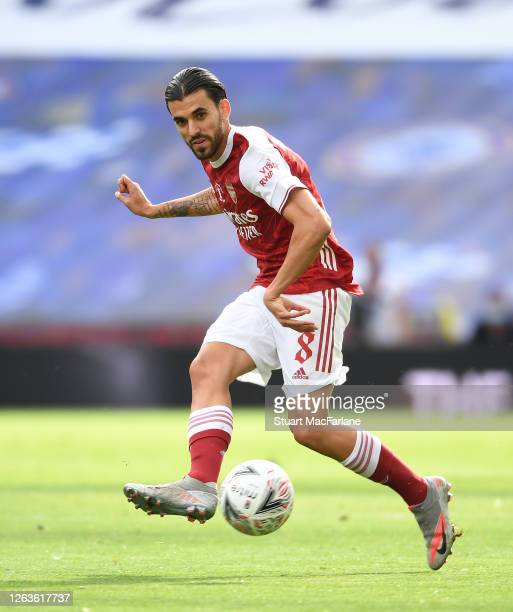 Dani Ceballos of Arsenal during the FA Cup Final match between Arsenal and Chelsea at Wembley Stadium on August 01 2020 in London England Football...