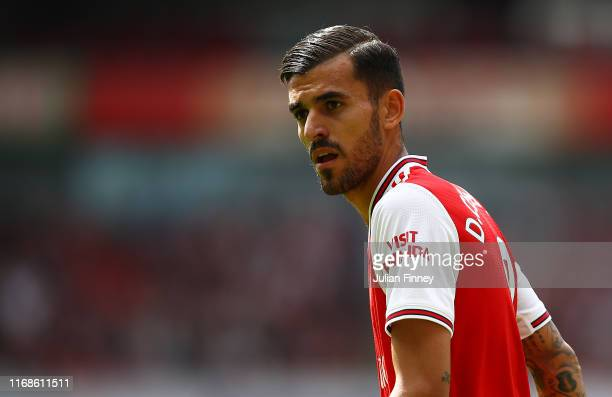 Dani Ceballos of Arsenal during the Premier League match between Arsenal FC and Burnley FC at Emirates Stadium on August 17, 2019 in London, United...