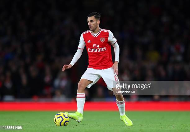 Dani Ceballos of Arsenal during the Premier League match between Arsenal FC and Crystal Palace at Emirates Stadium on October 27, 2019 in London,...