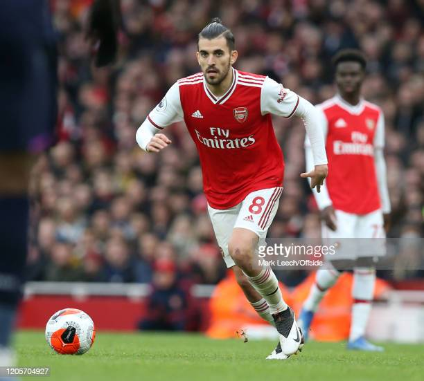 Dani Ceballos of Arsenal during the Premier League match between Arsenal FC and West Ham United at Emirates Stadium on March 7 2020 in London United...