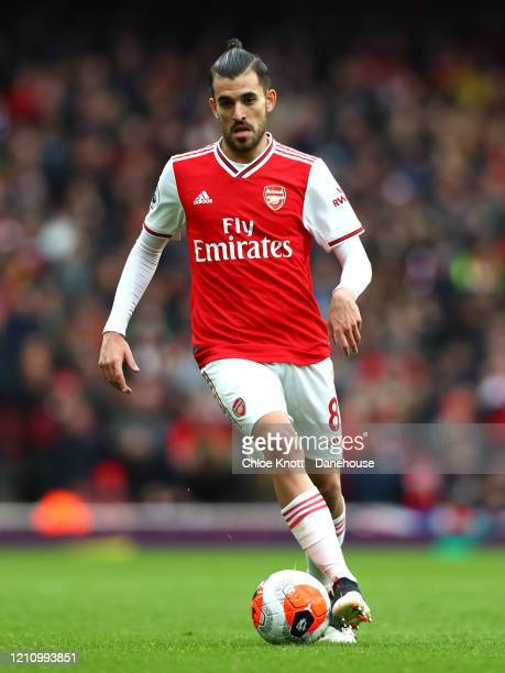 Dani Ceballos of Arsenal during the Premier League match between Arsenal FC and West Ham United at Emirates Stadium on March 07 2020 in London United...