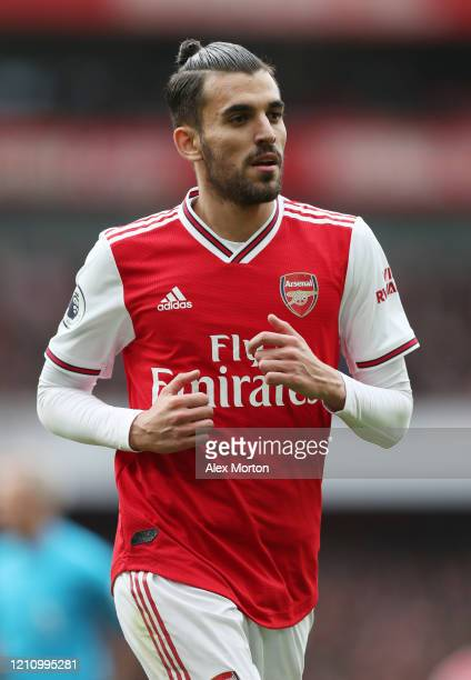 Dani Ceballos of Arsenal during the Premier League match between Arsenal FC and West Ham United at Emirates Stadium on March 07, 2020 in London,...