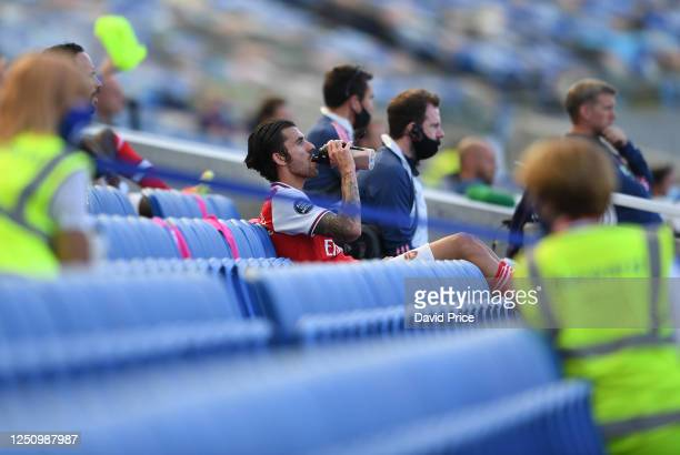 Dani Ceballos of Arsenal during the Premier League match between Brighton Hove Albion and Arsenal FC at American Express Community Stadium on June 20...