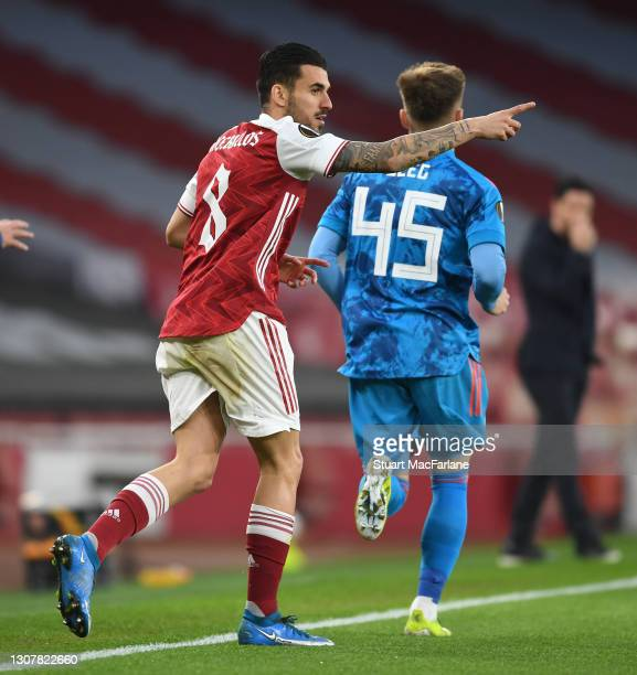 Dani Ceballos of Arsenal during the UEFA Europa League Round of 16 Second Leg match between Arsenal and Olympiacos at Emirates Stadium on March 18,...