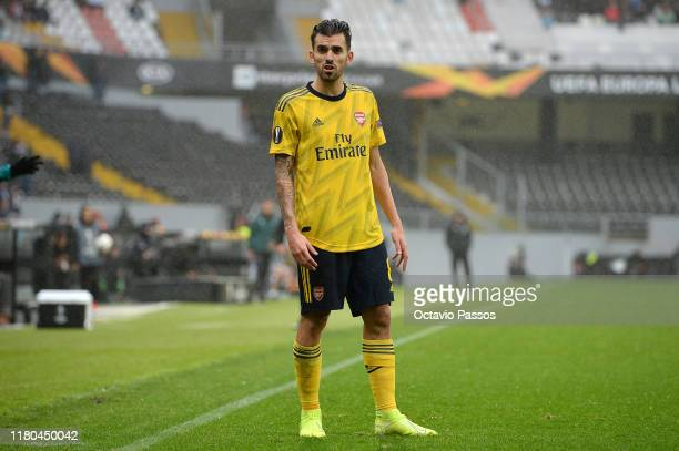 Dani Ceballos of Arsenal FC in action during the UEFA Europa League group F match between Vitoria Guimaraes and Arsenal FC at Estadio Dom Afonso...