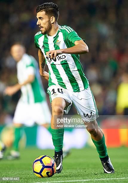 Dani Ceballos of Real Betis Balompie in action during La Liga match between Real Betis Balompie vs Athletic Club at Benito Villamarin Stadium on...