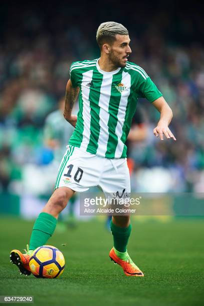 Dani Ceballos of Real Betis Balompie in action during La Liga match between Real Betis Balompie and Valencia CF at Benito Villamarin Stadium on...