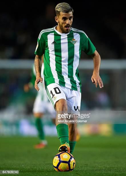 Dani Ceballos of Real Betis Balompie in action during La Liga match between Real Betis Balompie and Real Sociedad de Futbol at Benito Villamarin...
