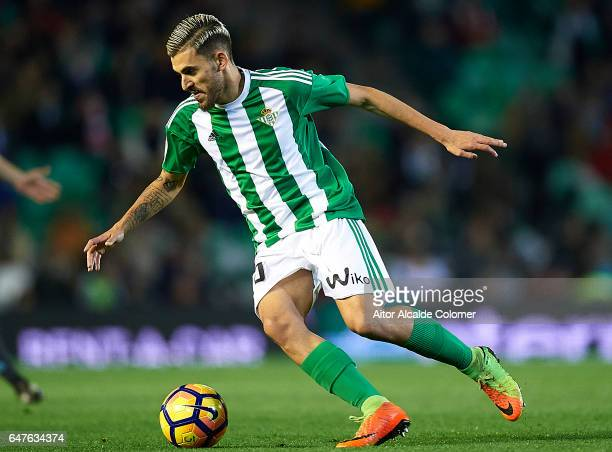 Dani Ceballos of Real Betis Balompie in action during La Liga match between Real Betis Balompie and Real Sociedad de Futbol at Benito Villamarin...