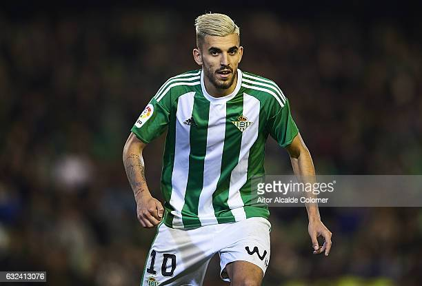 Dani Ceballos of Real Betis Balompie looks on during La Liga match between Real Betis Balompie and Real Sporting de Gijon at Benito Villamarin...