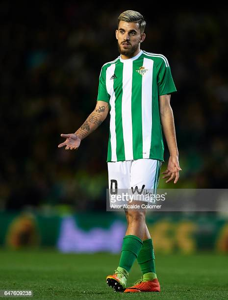 Dani Ceballos of Real Betis Balompie reacts during La Liga match between Real Betis Balompie and Real Sociedad de Futbol at Benito Villamarin Stadium...