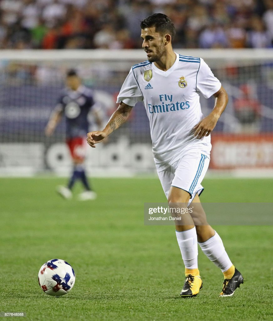 Dani Ceballos #24 of Real Madird looks to pass against the MLS All-Stars during the 2017 MLS All- Star Game at Soldier Field on August 2, 2017 in Chicago, Illinois. Real Madrid defeated the MLS All-Stars 4-2 in a shootout following a 1-1 regulation tie.