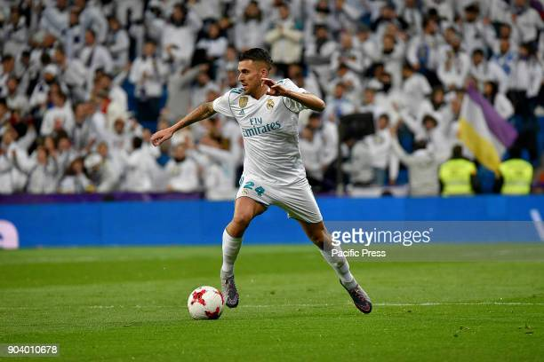 Dani Ceballos of Real Madrid against the Numancia during Copa del Rey match in Santiago Bernabeu Stadium The match tie with the score of 22