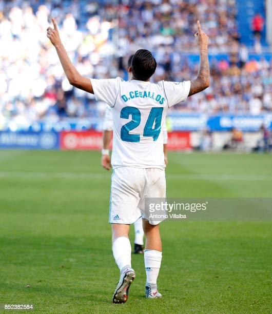 Dani Ceballos of Real Madrid celebrate a goal during the La Liga match between Deportivo Alaves and Real Madrid at Estadio de Mendizorroza on...