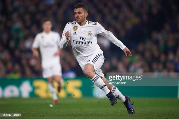 Dani Ceballos of Real Madrid CF in action during the La Liga match between Real Betis Balompie and Real Madrid CF at Estadio Benito Villamarin on...