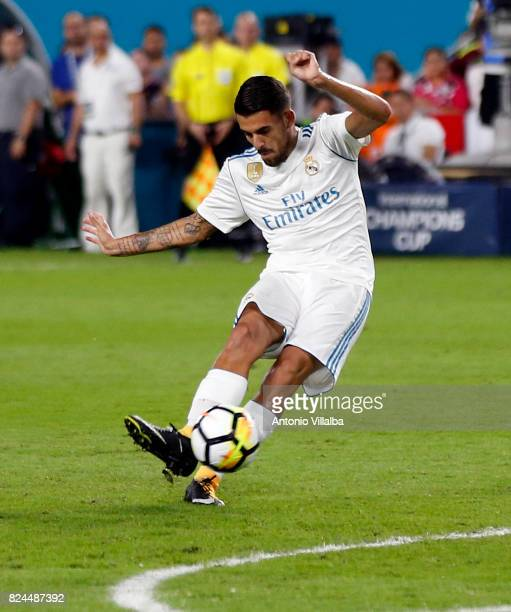 Dani Ceballos of Real Madrid during the international champions cup match between Real Madrid CF and FC Barcelona at Hard Rock Stadium on July 29...