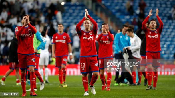 Dani Ceballos of Real Madrid gestures after the Spanish Copa del Rey match between Real Madrid and Numancia at Santiago Bernabeu on January 10 2018...
