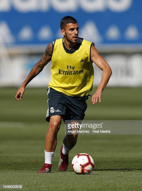Dani Ceballos of Real Madrid in action during a training session at Valdebebas training ground on October 5 2018 in Madrid Spain