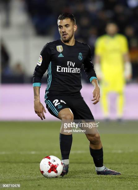 Dani Ceballos of Real Madrid in action during the Spanish Copa del Rey Quarter Final First Leg match between Leganes and Real Madrid at Estadio...