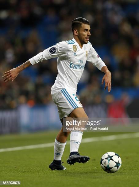 Dani Ceballos of Real Madrid in action during the UEFA Champions League group H match between Real Madrid CF and Borussia Dortmund at Estadio...