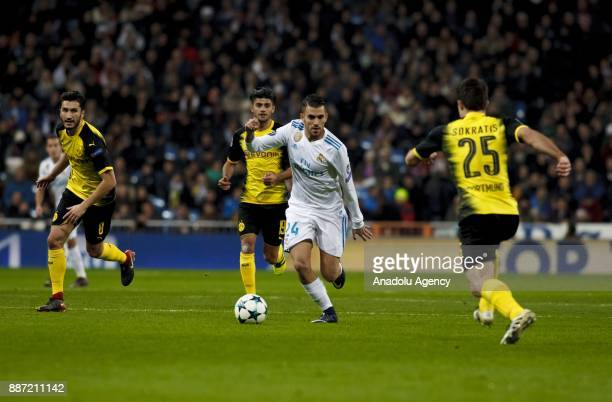 Dani Ceballos of Real Madrid in action during the UEFA Champions League group H match between Real Madrid and Borussia Dortmund at Santiago Bernabeu...