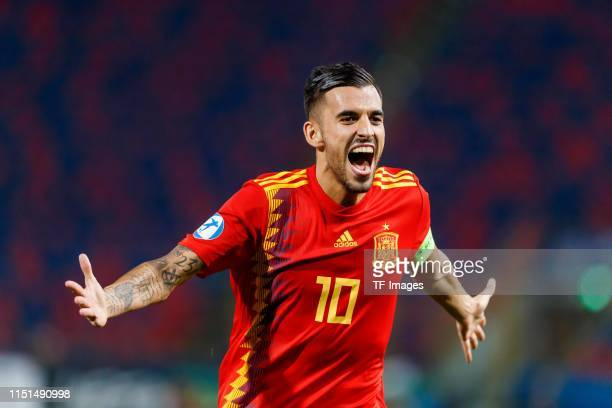 Dani Ceballos of Spain celebrates after scoring his team's fourth goal during the 2019 UEFA U-21 Group A match between Spain and Poland at Renato...
