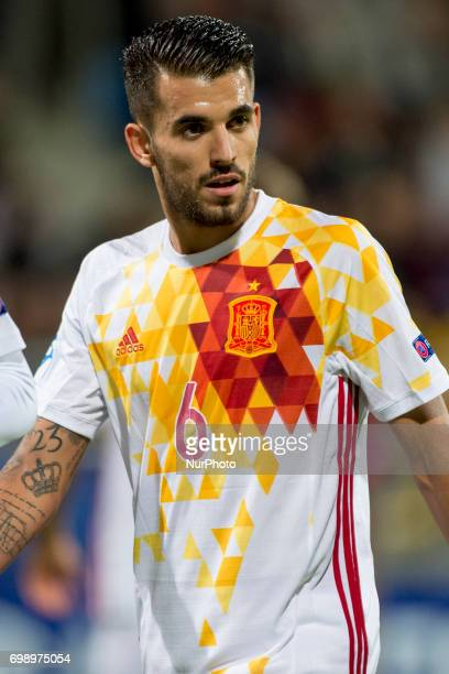 Dani Ceballos of Spain during the UEFA European Under21 Championship 2017 Group B match between Portugal and Spain at Gdynia Stadium in Gdynia Poland...