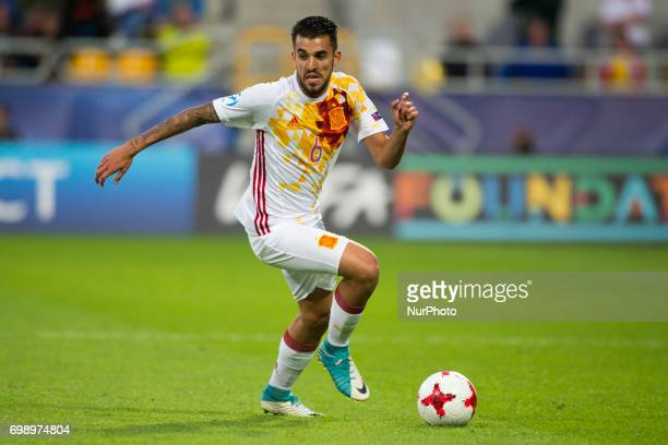 Dani Ceballos of Spain in action during the UEFA European Under21 Championship 2017 Group B match between Portugal and Spain at Gdynia Stadium in...