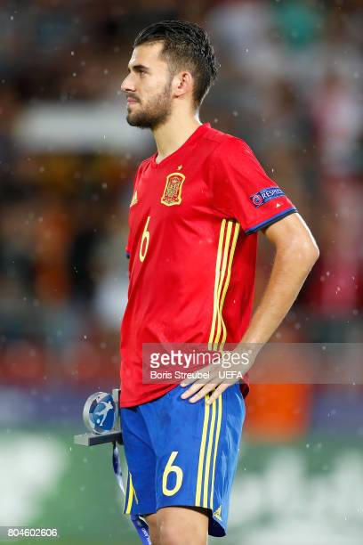 Dani Ceballos of Spain looks dejected after the UEFA European Under21 Championship Final between Germany and Spain at Krakow Stadium on June 30 2017...