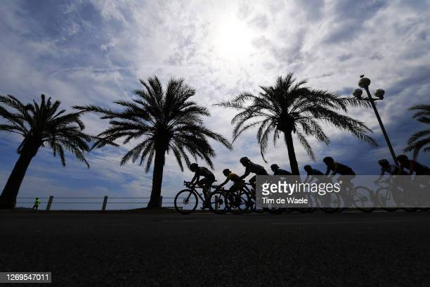 Dani Christmas of The United Kingdom and Team Lotto Soudal Ladies / Ruth Winder of The United States and Team Trek- Segafredo / Grace Brown of...