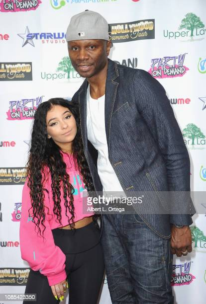 Dani Cohn and Sheldon Robbins attend Danielle Cohn's Music Video Release Party For Lights Camera Action held at Starwest Studios on January 19 2019...