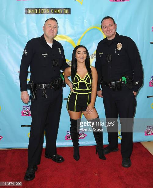 Dani Cohn with members of the LAPD attend the Release Party For Dani Cohn And Mikey Tua's Song Somebody Like You held at The Industry Loft on June 8...