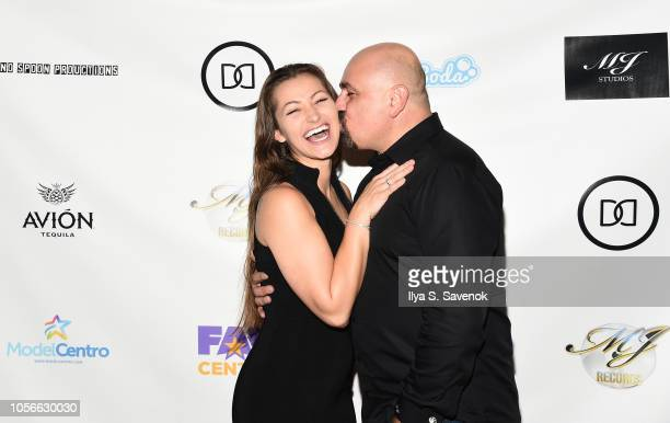 Dani Daniels and Vic Cipolla pose during Dinner With Dani Launch Party at The Mezzanine on November 2, 2018 in New York City.