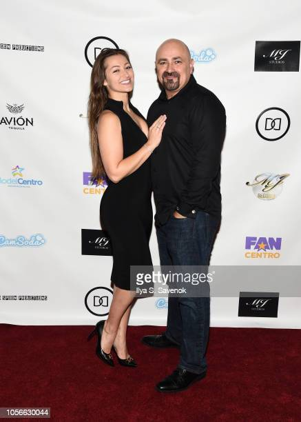 Dani Daniels and Vic Cipolla pose during Dinner With Dani Launch Party at The Mezzanine on November 2 2018 in New York City