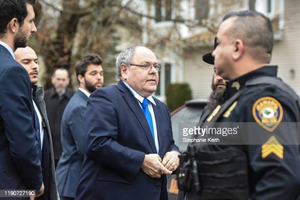Dani Dayan Consul General of Israel in New York arrives the house of Rabbi Chaim Rottenberg on December 29 2019 in Monsey New York Five people were...