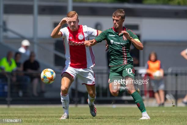 Dani de Wit of Ajax, Lucas Andersen of Aalborg BK during the pre-season friendly match between AFC Ajax Amsterdam and Aalborg BK at sportpark...