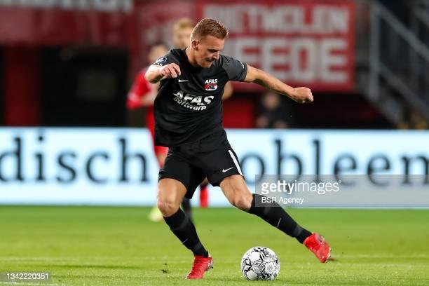 Dani de Wit of AZ during the Dutch Eredivisie match between FC Twente and AZ at De Grolsch Veste on September 23, 2021 in Enschede, Netherlands