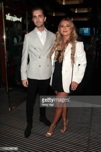 Dani Dyer and Sammy Kimmence seen attending Godzilla King of Monsters UK film premiere at Cineworld Leicester Square on May 28 2019 in London England