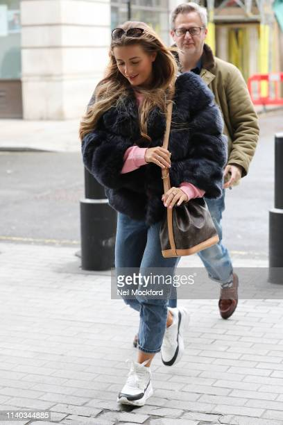 Dani Dyer at BBC Radio One on April 04 2019 in London England