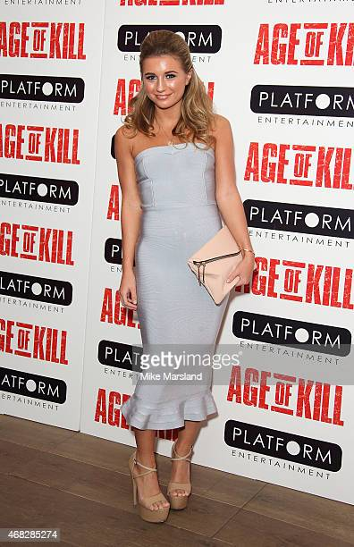 Dani Dyer attends a private screening of Age Of Kill at Ham Yard Hotel on April 1 2015 in London England
