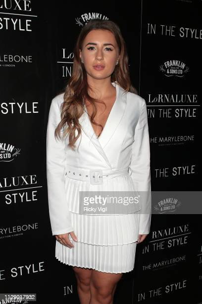 Dani Dyer attends the 'In The Style' party held at the Marylebone Hotel on February 11 2019 in London England