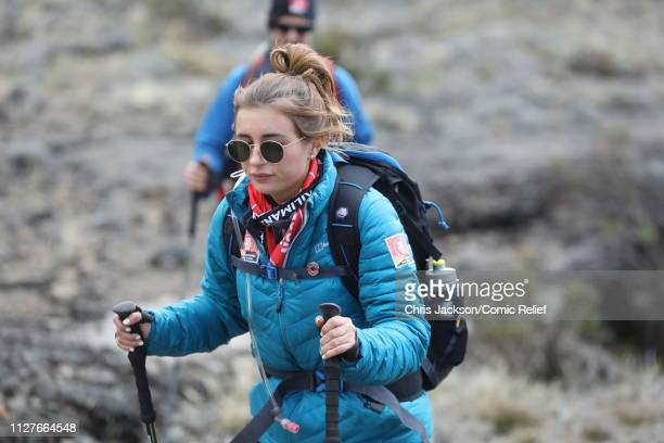 Dani Dyer during day five of 'Kilimanjaro The Return' for Red Nose Day on February 27 2019 in Arusha Tanzania all to raise funds for Comic Relief...